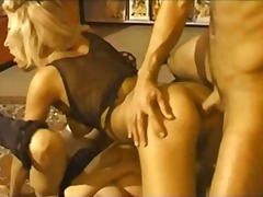 stockings, milf, tranny, threesome