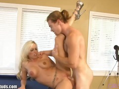 See: Busty blonde fucked by...