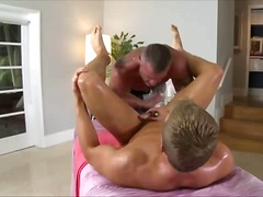Gay bear masseur blowjob fuck