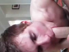 Sexy gay dude sucks jizzster and gets...
