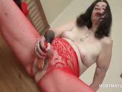 Slutty mature in panty...