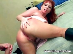 PornoXO Movie:Busty ginger slut and blond bi...