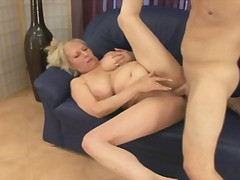 See: Blonde mature fucks a guy