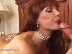 Vanessa smokes a cigar... video