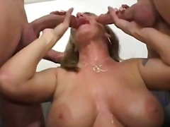 wife, blowjob, threesome, milf,