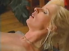 blonde, pussy, mature, stockings, tits,