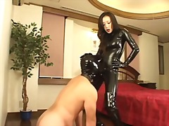 asian, japanese, latex, strapon