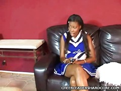 Sweet ebony cheerleade... video