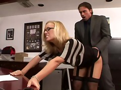 Nicole fucks in office video