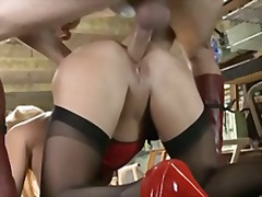 Blonde gets hard fucked