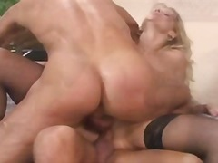 Double penetration triple cumshot