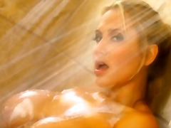 Wet blonde bombshells video