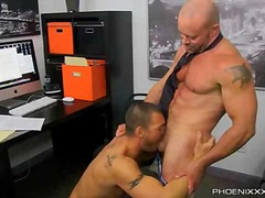 Horny office butt banging