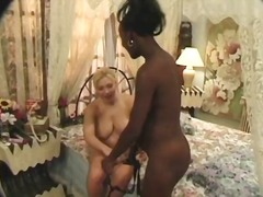 Brittany has the dual dicking by ebony penises