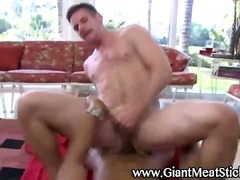 See: Gay hunk takes cock fu...