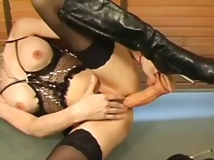 shemale, corset, ladyboy, garter, stockings, hardcore, solo