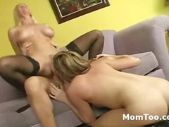 Blonde busty mature an... video