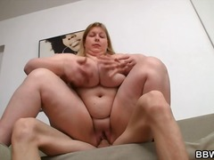 Huge lady is sucking a...