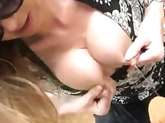Amateur preggo slut outdoor lactating