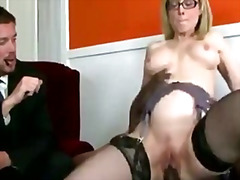 Thumb: Blond milf helps her w...