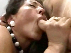 Hairy mature boss fuck two cuties very hard