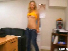 masturbation, skinny, blonde, office,