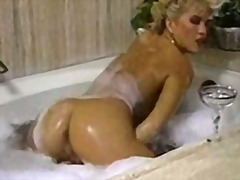 masturbation, solo, hairypussy, retro, wet, softcore, vintage, blonde