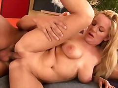 milf, blowjob, blonde, mature,