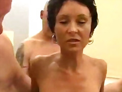 German mature gangbang... video