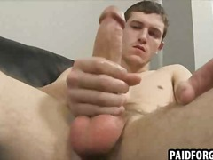 Straight hunk tugging ... video