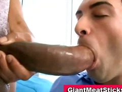 BoyFriendTV Movie:Twink gets mouthful of black cock
