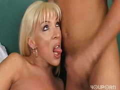 aShemaleTube Movie:Guy fucks blonde milf tranny