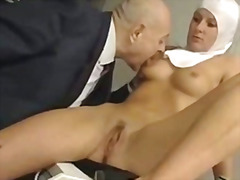 Italian latina abused by dirty old man
