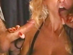 threesome, anal, stockings, cumshot