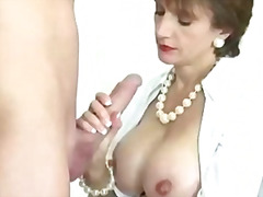 Cuckolds wife cops a load  - 10:22