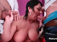 mature, blowjob, oral, mom,