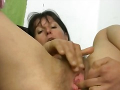 Hairy mature carmen to...