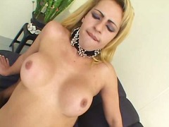 aShemaleTube Movie:Mutual fuck of blonde tranny &...