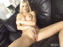 blonde, natural boobs, solo