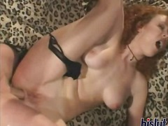 redhead, creampie, anal, threesome