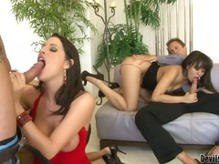 Three horny neighborhood brunettes annie cruz