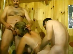 French threesomes casting video
