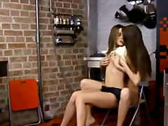 Leggy cuties are licking video