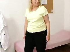 cougar, milf, vagina, exam, bizarre, fat, plumper, blonde, pussy, doctor, clinic, mom, hospital
