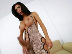 aShemaleTube Movie:Ultra yummy and hot tranny dol...