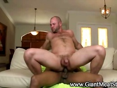 Gay bear takes ebony cock preview
