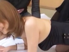 Asian girl in bunny su... video