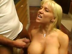 blonde, lick, natural boobs, shaved