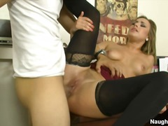 Kennedy leigh sits on peni... - 03:05