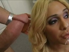 milf, blonde, blowjob, tits, cute,